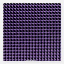 """Houndstooth Purple Square Car Magnet 3"""" x 3"""""""
