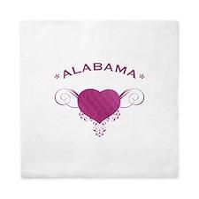 Alabama State (Heart) Gifts Queen Duvet