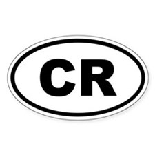 Costa Rica CR Decal