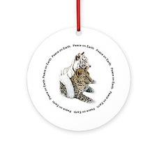 White Tiger & Leopard Ornament (Round)