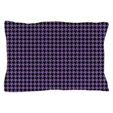 Houndstooth Purple Pillow Case