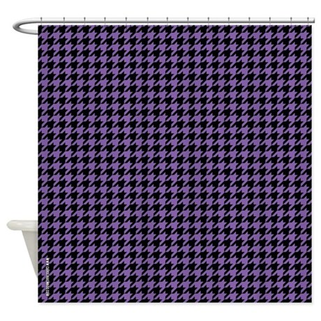 Houndstooth Purple Shower Curtain By CarolinaSwagger