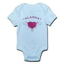 Alaska State (Heart) Gifts Infant Bodysuit