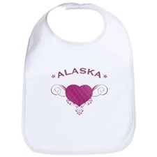 Alaska State (Heart) Gifts Bib