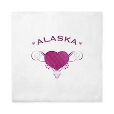 Alaska State (Heart) Gifts Queen Duvet
