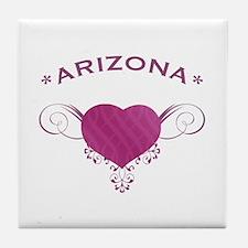 Arizona State (Heart) Gifts Tile Coaster