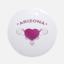 Arizona State (Heart) Gifts Ornament (Round)