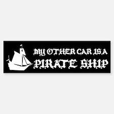 MY OTHER CAR IS A PIRATE SHIP STICKER Bumper Stick