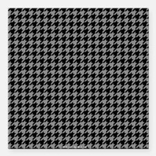 """Houndstooth Grey Square Car Magnet 3"""" x 3"""""""