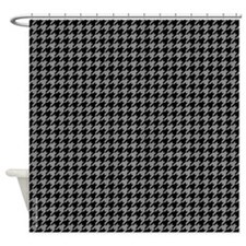 Houndstooth Grey Shower Curtain