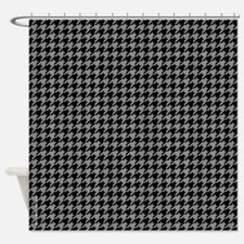 Houndstooth Grey Shower Curtain
