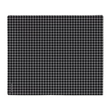 Houndstooth Grey Throw Blanket