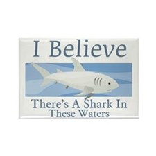 Shark In These Waters Rectangle Magnet