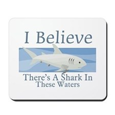 Shark In These Waters Mousepad