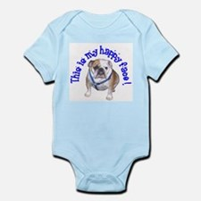 English Bulldog Happy Face Infant Bodysuit