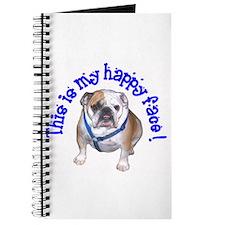 English Bulldog Happy Face Journal