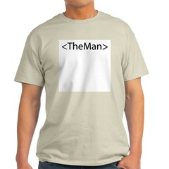 HTML Joke-TheMan Ash Grey T-Shirt