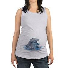 Happy Dolphin Maternity Tank Top