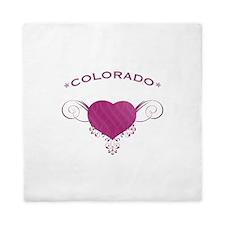 Colorado State (Heart) Gifts Queen Duvet