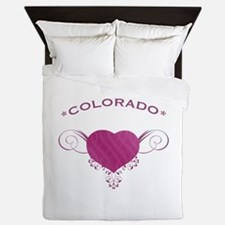 Colorado State (Heart) Gifts Queen Duvet