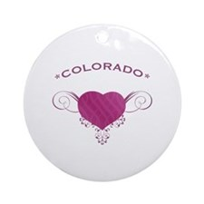 Colorado State (Heart) Gifts Ornament (Round)
