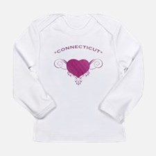 Connecticut State (Heart) Gifts Long Sleeve Infant