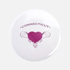 """Connecticut State (Heart) Gifts 3.5"""" Button"""