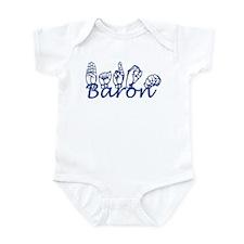Baron ASL and Text Infant Bodysuit
