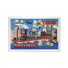 Texarkana Arkansas Texas Rectangle Magnet