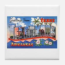 Texarkana Arkansas Texas Tile Coaster
