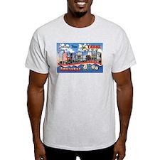 Texarkana Arkansas Texas (Front) Ash Grey T-Shirt