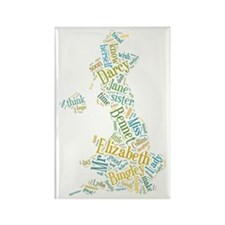 Pride and Prejudice Map Rectangle Magnet