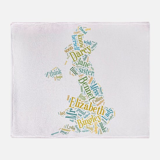 Pride and Prejudice Map Throw Blanket