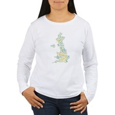 Pride and Prejudice Map Long Sleeve T-Shirt
