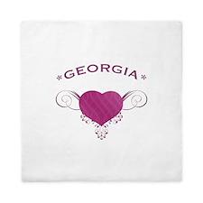 Georgia State (Heart) Gifts Queen Duvet