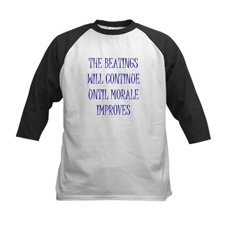 Beatings Will Continue Kids Baseball Jersey