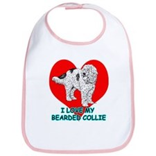 I Love My Bearded Collie Bib
