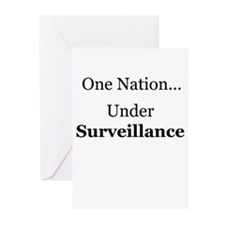 One Nation Under Surveillance Greeting Cards (Pack