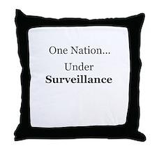 One Nation Under Surveillance Throw Pillow