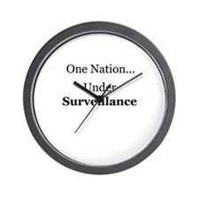 One Nation Under Surveillance Wall Clock