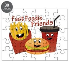 Smiling Fast Foodie Friends Puzzle