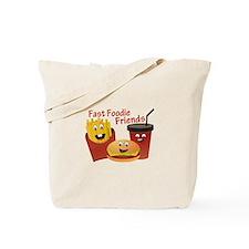 Smiling Fast Foodie Friends Tote Bag