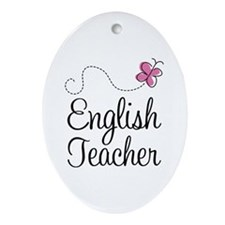 English Teacher Ornament (Oval)