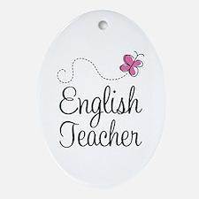 English Teacher Ornament (Oval)