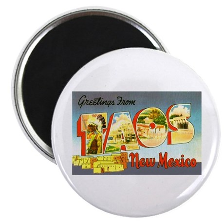 Taos New Mexico Greetings Magnet