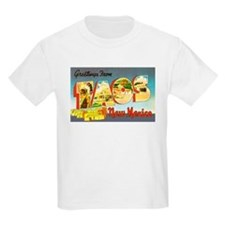 Taos New Mexico Greetings (Front) Kids T-Shirt