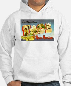Taos New Mexico Greetings (Front) Hoodie