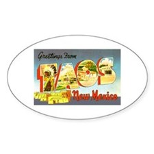 Taos New Mexico Greetings Oval Decal