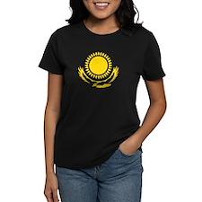 Kazakhstan Emblem Women's T-Shirt (Black)