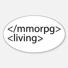 HTML Joke-MMORPGs Oval Decal